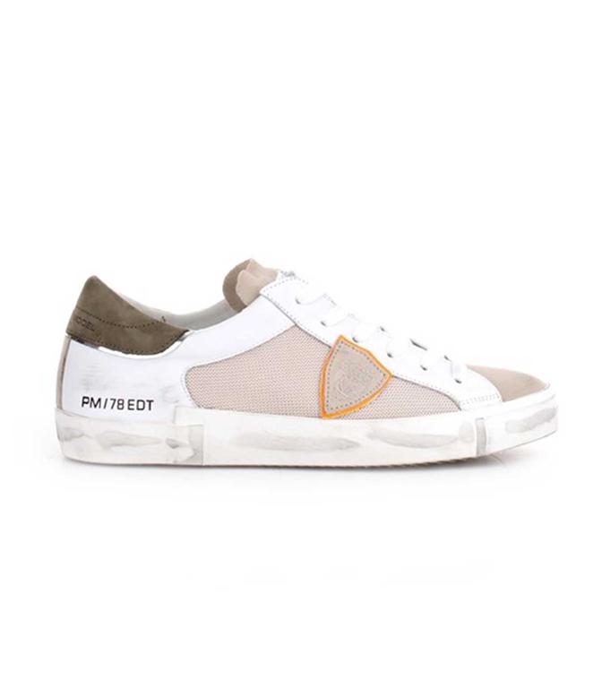 Philippe Model - Scarpe - Sneakers - Prsx Reseau Veau - Blanc Vert