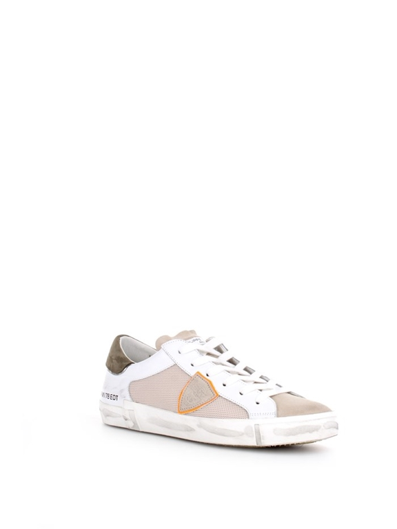 Philippe Model - Scarpe - Sneakers - prsx reseau veau - blanc vert 1