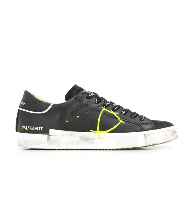 Philippe Model Paris - Scarpe - Sneakers - Prsx Veau Peint - Noir Jaune