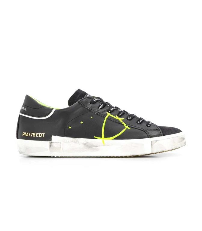 Philippe Model - Scarpe - Sneakers - Prsx Veau Peint - Noir Jaune