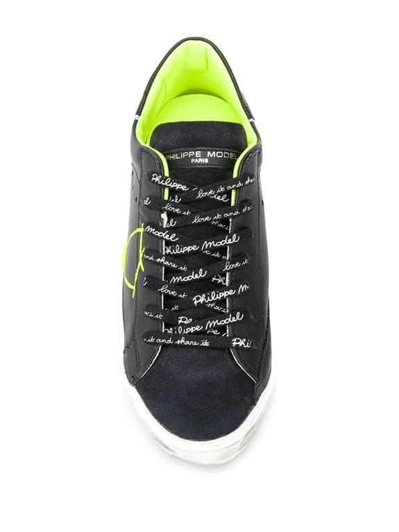 Philippe Model - Scarpe - Sneakers - prsx veau peint - noir jaune 1