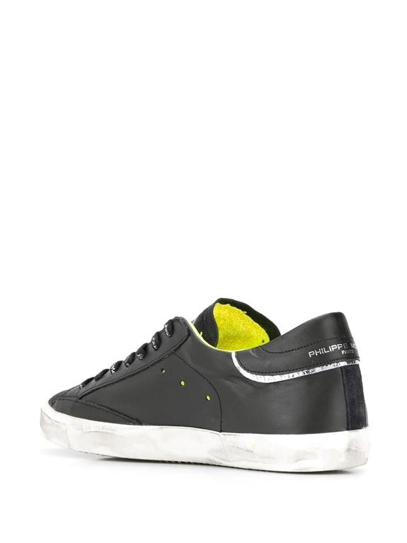 Philippe Model - Scarpe - Sneakers - prsx veau peint - noir jaune 2