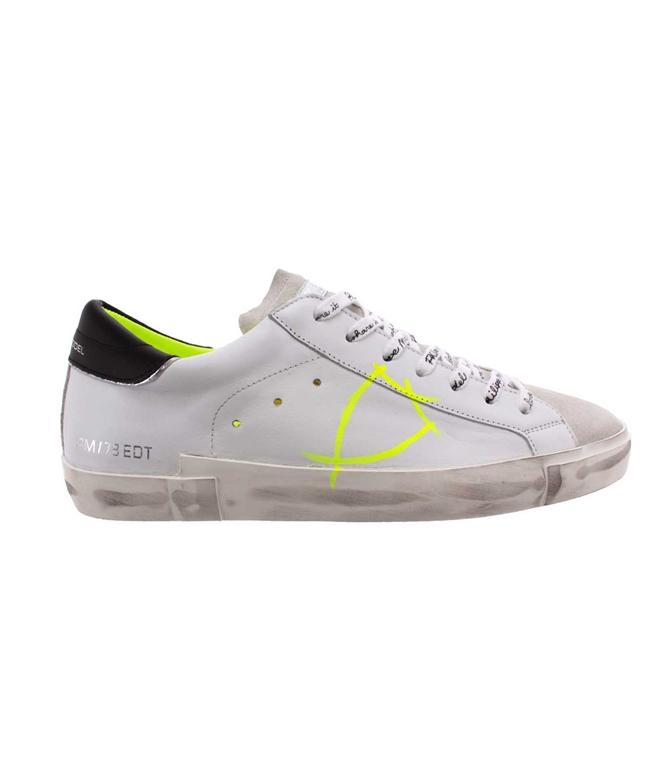 Philippe Model - Scarpe - Sneakers - Prsx Veau Peint - Blanc Jaune