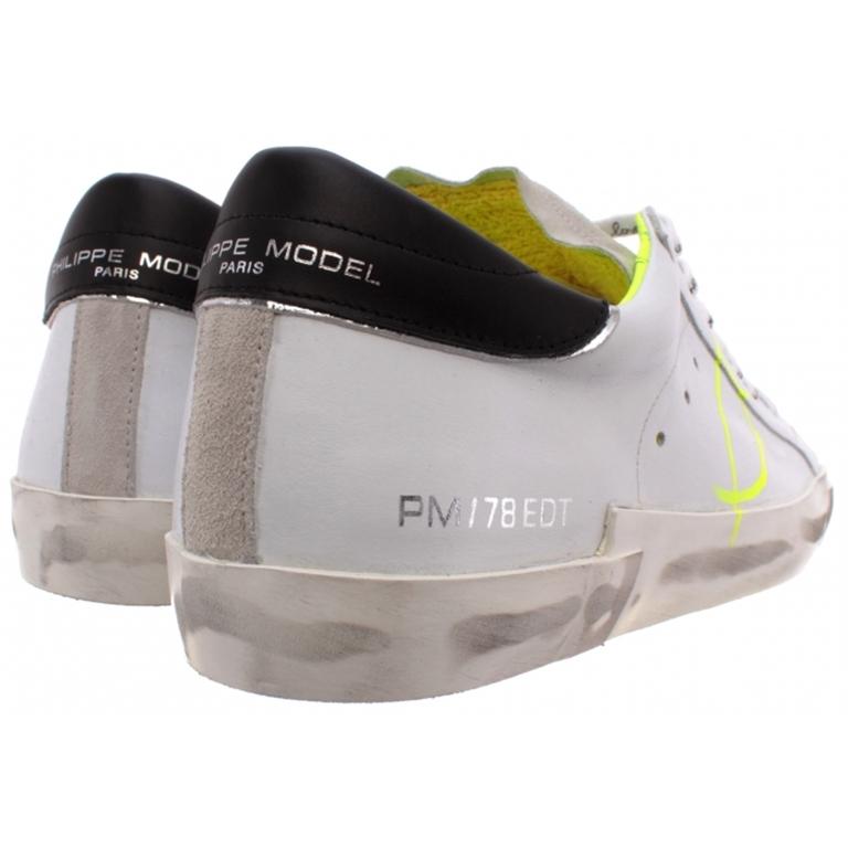 Philippe Model - Scarpe - Sneakers - prsx veau peint - blanc jaune 1