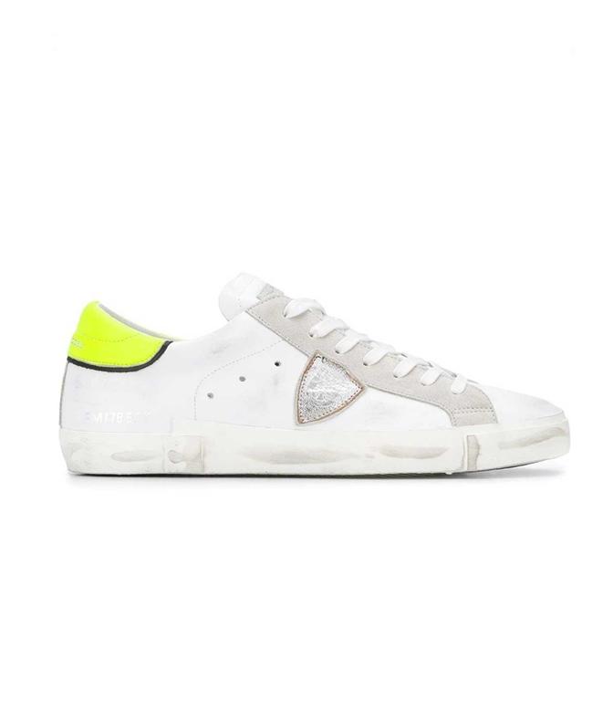 Philippe Model Paris - Scarpe - Sneakers - Prsx Veau Neon - Blanc Jaune