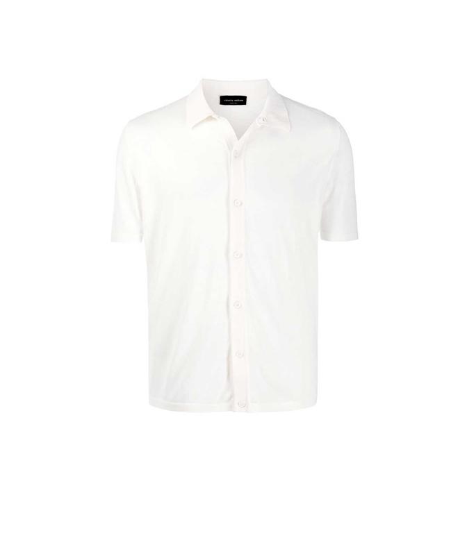 Roberto Collina - Camicie - polo bianca