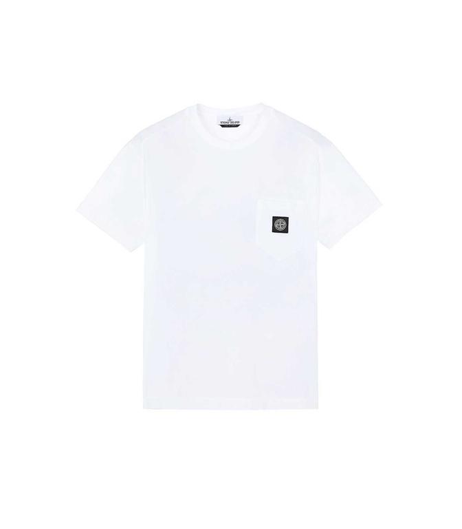 Stone Island - T-Shirt - T-SHIRT BIANCA