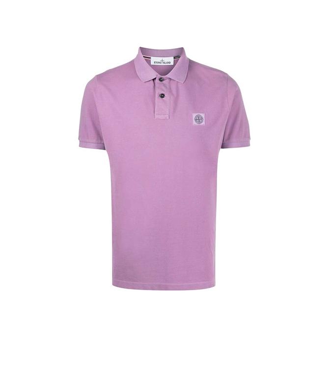 Stone Island - Polo - polo manica corta rosa quarzo