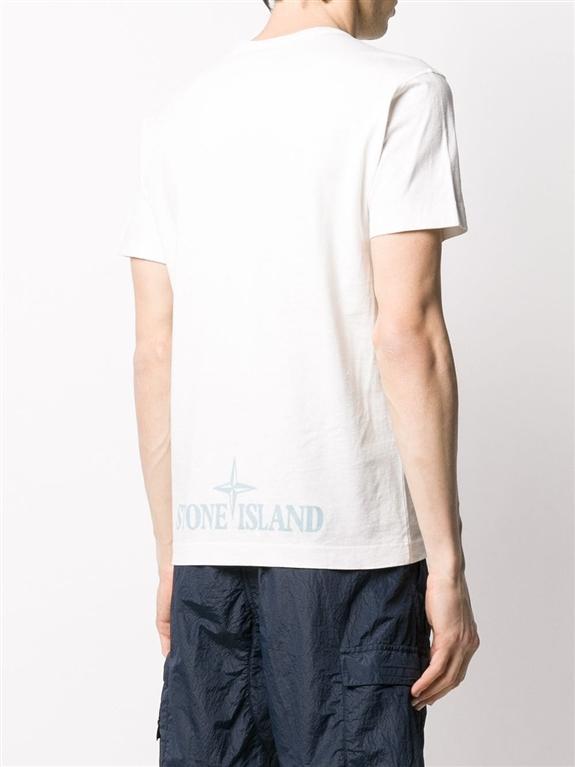 Stone Island - T-Shirt - t-shirt camo dévoré avorio 1