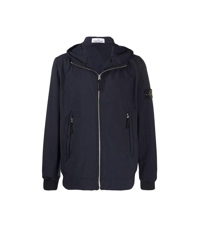 Stone Island - Giubbotti - LIGHT SOFT SHELL-R - BLU