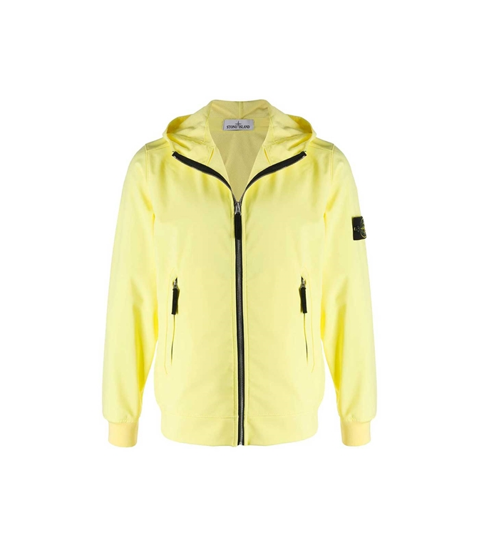 Stone Island - Giubbotti - LIGHT SOFT SHELL-R - LIMONE