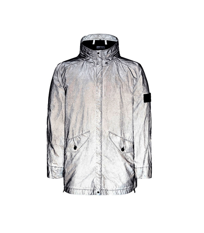 Stone Island - Giubbotti - plated rfabric research and treatment