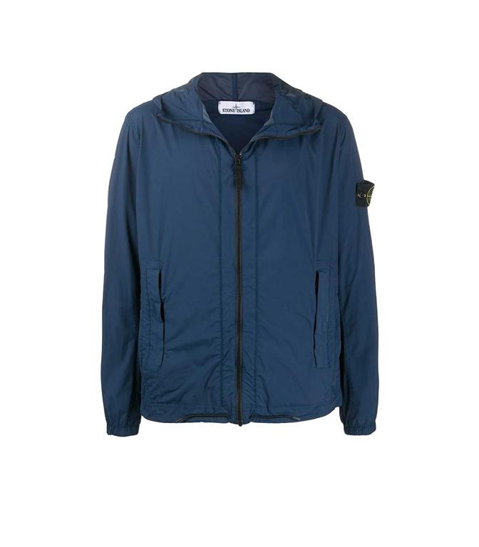 Stone Island - Giubbotti - skin touch nylon-tc_packable bleu marine
