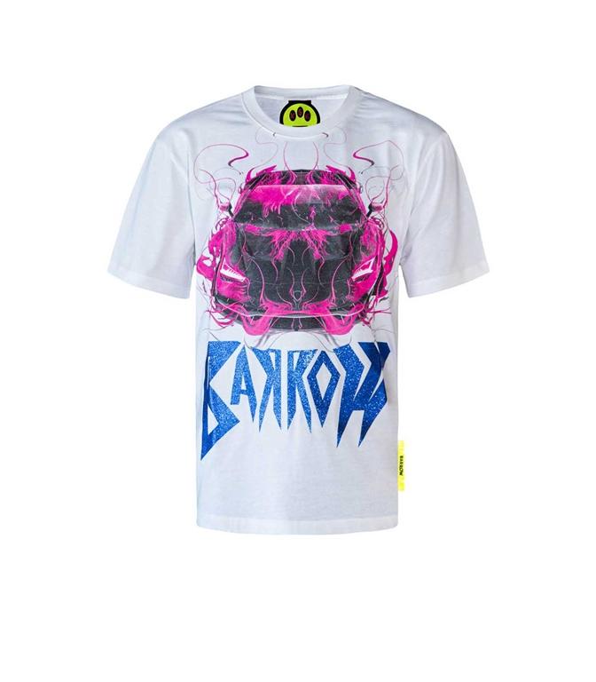 Barrow - T-Shirt - t-shirt jersey girocollo bianca