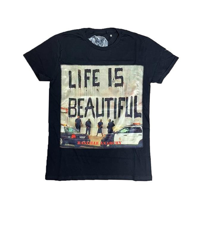 Bastille - T-Shirt - TSHIRT NERA LIFE IS BEAUTIFUL