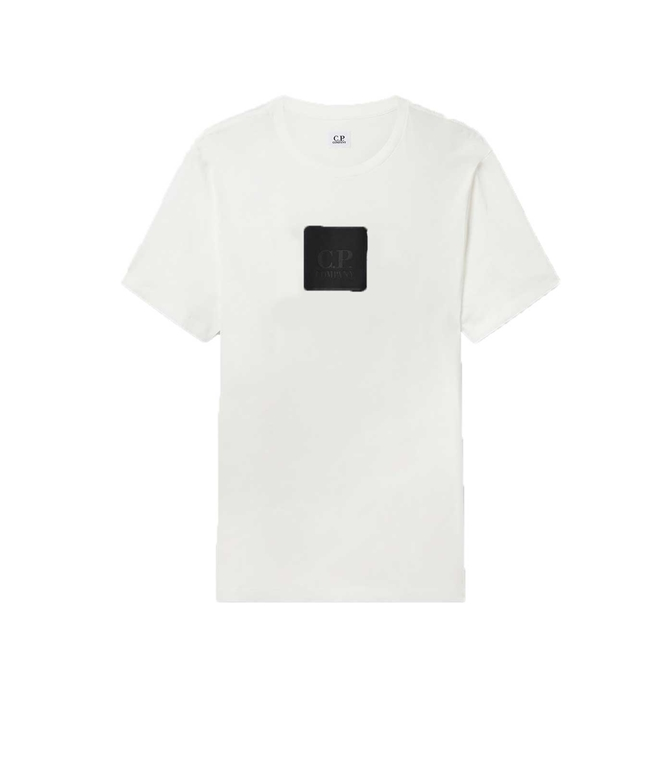 C.P. COMPANY - T-Shirt - TSHIRT SHORT SLEEVE JERSEY BIANCA