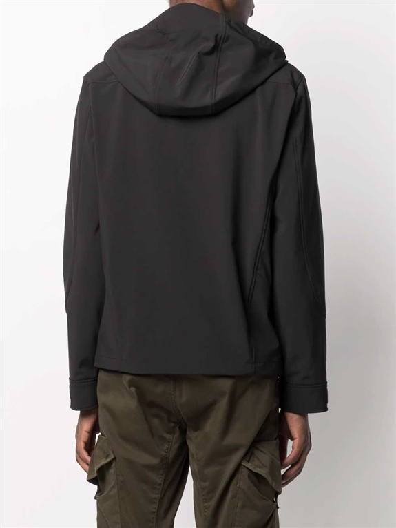 C.P. COMPANY - Giubbotti - giacca con zip e cappuccio nera 1
