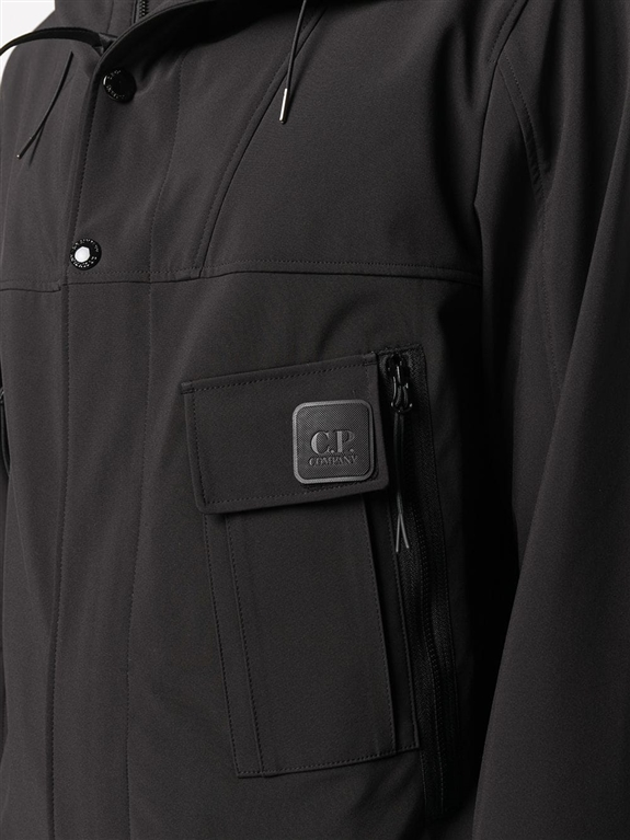 C.P. COMPANY - Giubbotti - giacca con zip e cappuccio nera 2