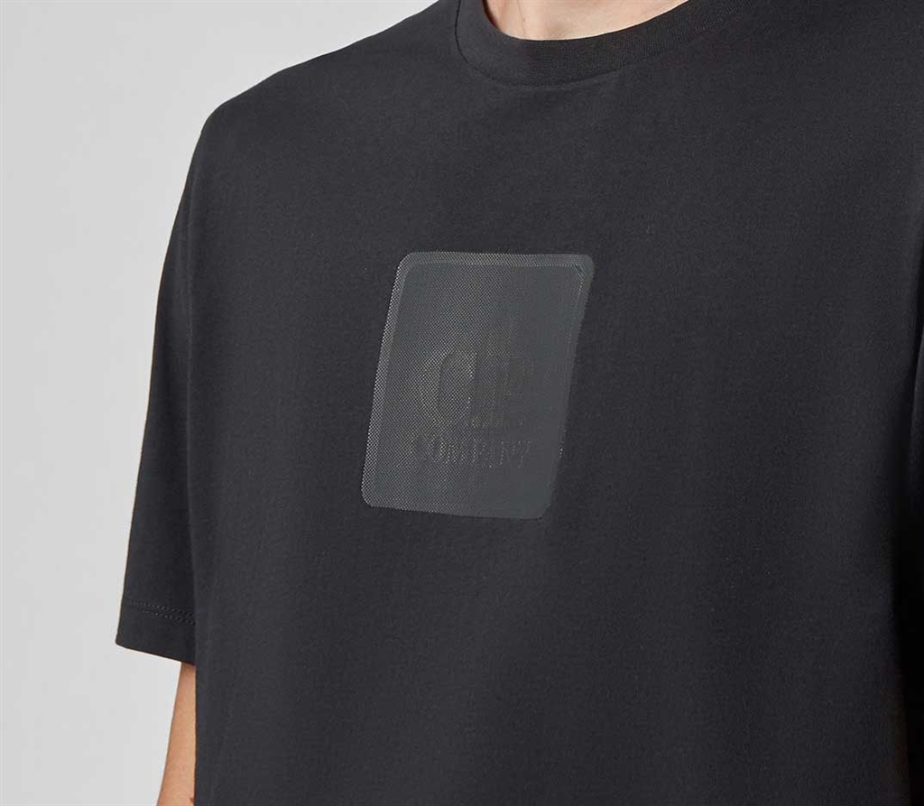 C.P. COMPANY - T-Shirt - t-shirt in jersey nera 2