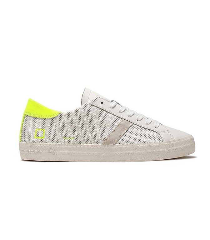 D.A.T.E. - Scarpe - Sneakers - HILL LOW FLUO PERF. BIANCA-GIALLA