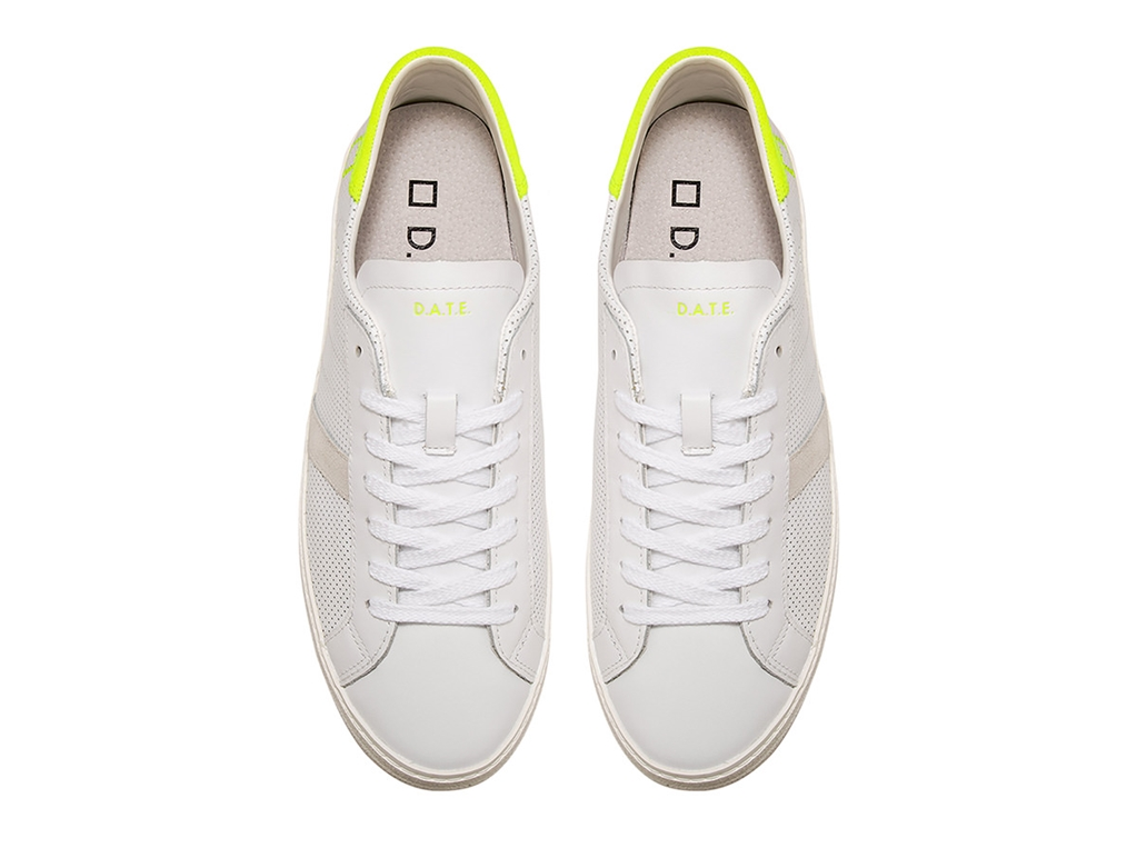 D.A.T.E. - Scarpe - Sneakers - hill low fluo perf. bianca-gialla 1