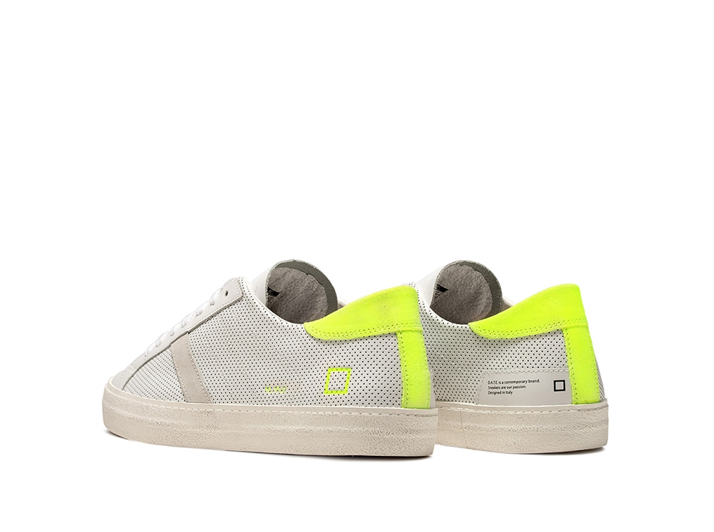 D.A.T.E. - Scarpe - Sneakers - hill low fluo perf. bianca-gialla 2