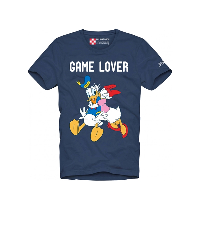 Mc2 Saint Barth - T-Shirt - T-SHIRT GAME LOVER BLU - EDIZIONE SPECIALE DISNEY©