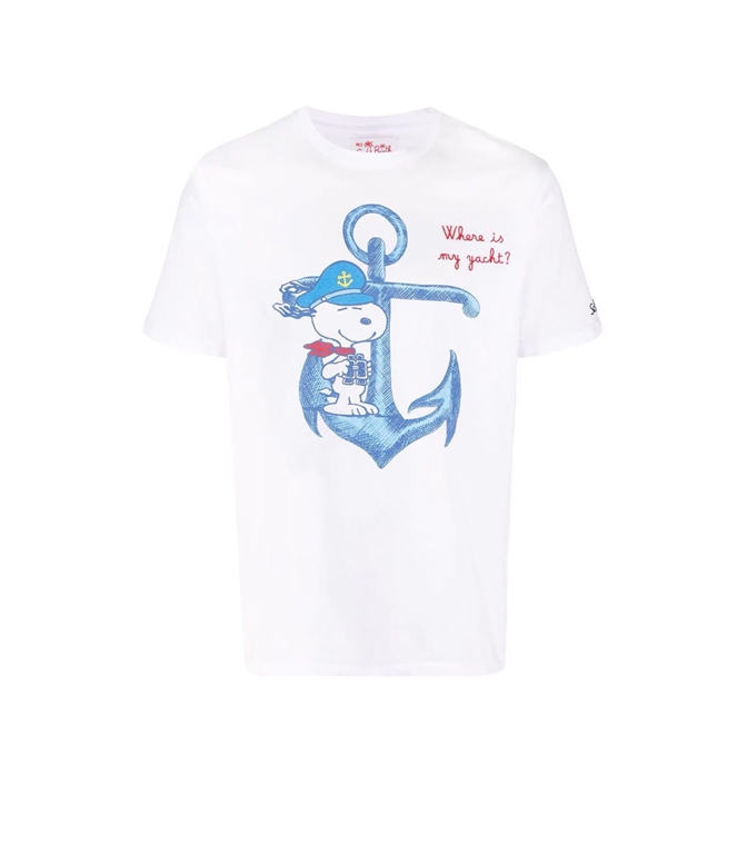 Mc2 Saint Barth - T-Shirt - TSHIRT BIANCA SNOOPY