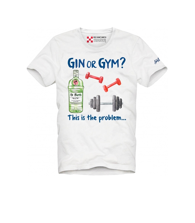 "Mc2 Saint Barth - T-Shirt - TSHIRT STAMPA ""GIN OR GYM"""