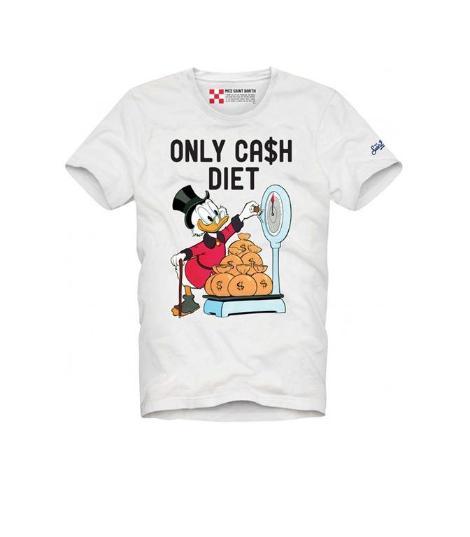 "Mc2 Saint Barth - T-Shirt - T-SHIRT BIANCA ""ST BARTH DIET"" - EDIZIONE SPECIALE DISNEY©"