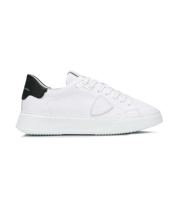 Philippe Model Paris - Scarpe - Sneakers - TEMPLE LOW VEAU BIANCA NERA