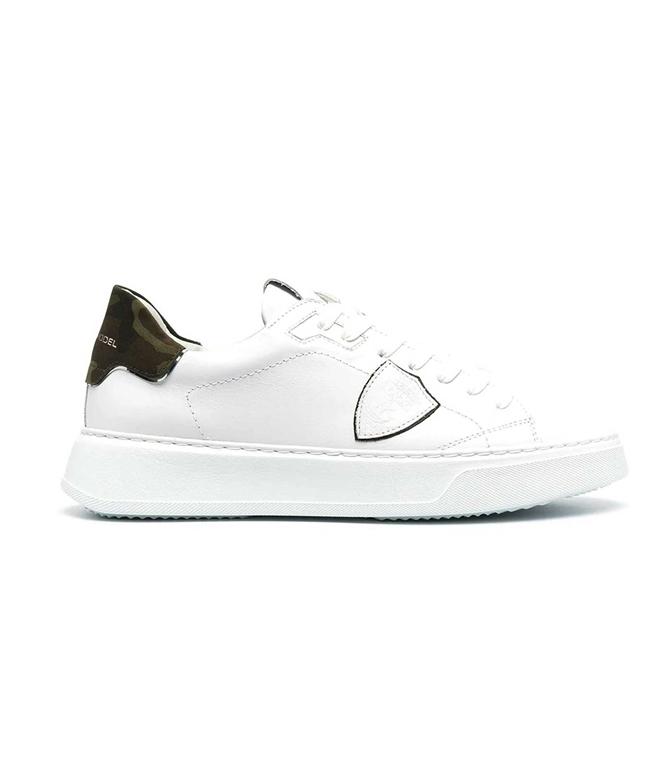 Philippe Model Paris - Scarpe - Sneakers - TEMPLE LOW VEAU BIANCA CAMOUFLAGE