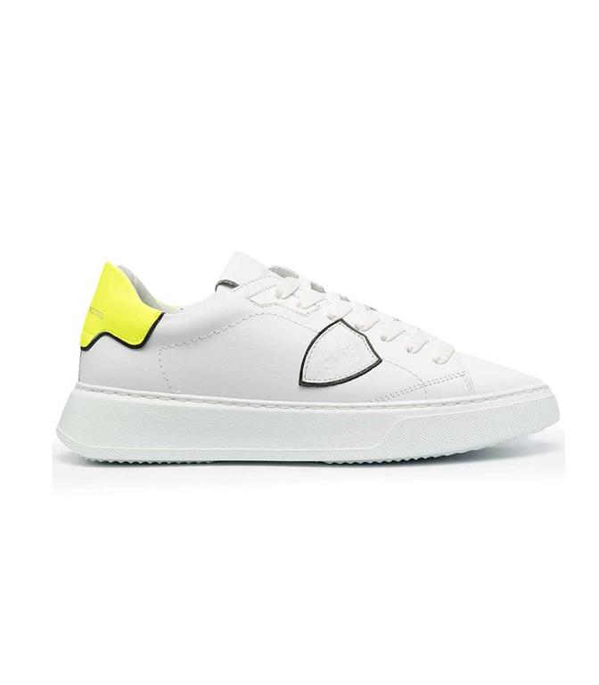 Philippe Model Paris - Scarpe - Sneakers - TEMPLE LOW VEAU NEON BIANCA GIALLA