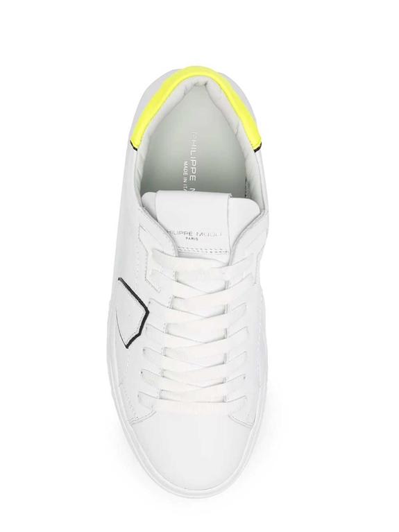 Philippe Model Paris - Scarpe - Sneakers - temple low veau neon bianca gialla 1