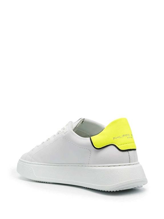 Philippe Model Paris - Scarpe - Sneakers - temple low veau neon bianca gialla 2