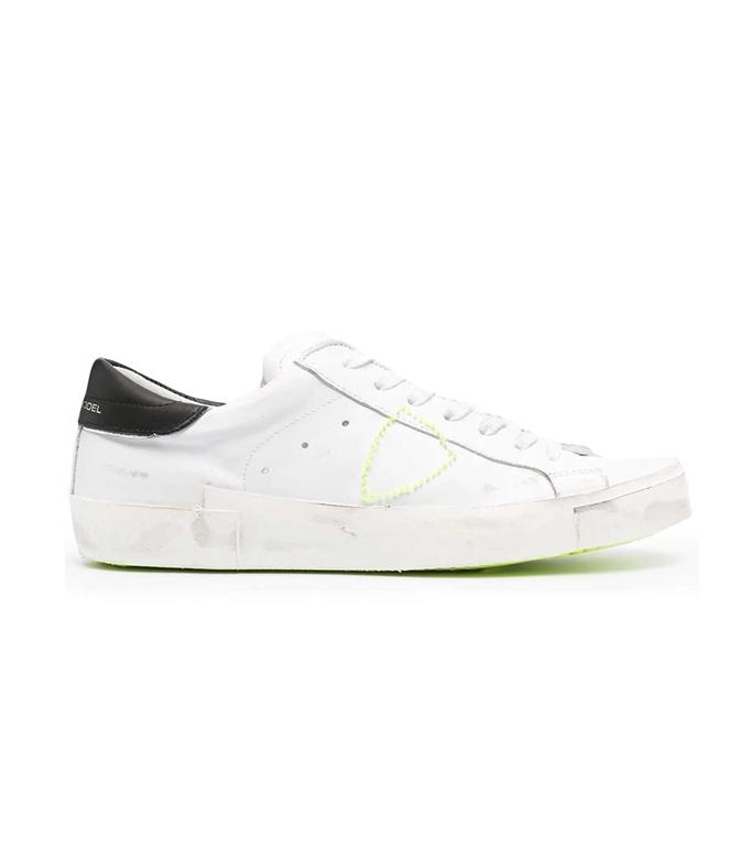 Philippe Model Paris - Scarpe - Sneakers - LOW BRODERIE NEON BIANCA NERA