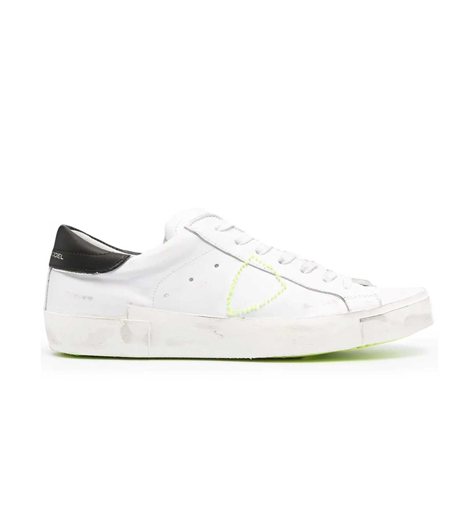 Philippe Model Paris - Scarpe - Sneakers - LOW BRODERIE NEON BIANCA NERA