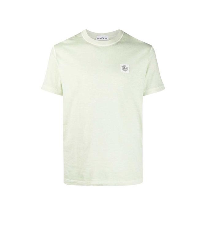 Stone Island - T-Shirt - tshirt tinta 'fissato' treatment verde chiaro