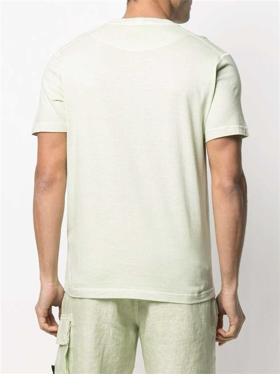 Stone Island - T-Shirt - tshirt tinta 'fissato' treatment verde chiaro 1