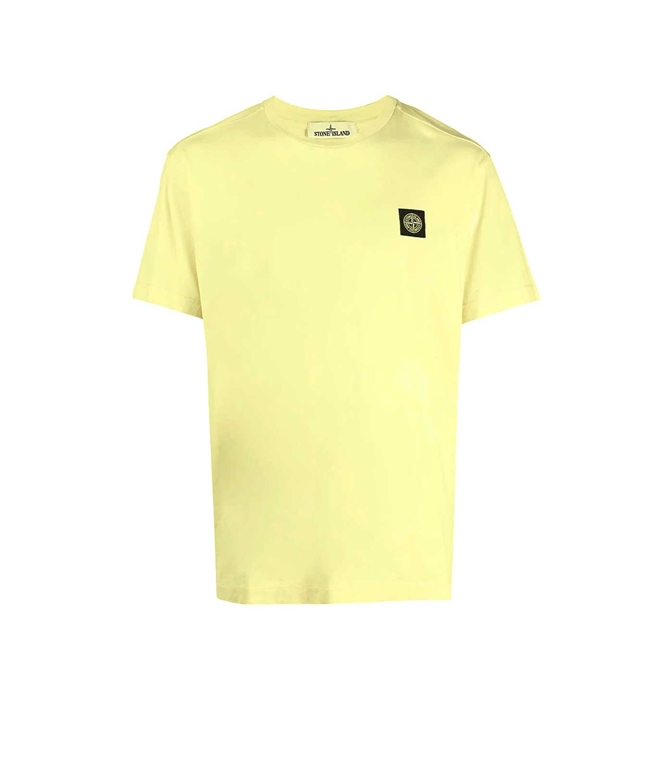 Stone Island - T-Shirt - tshirt jersey giallo limone