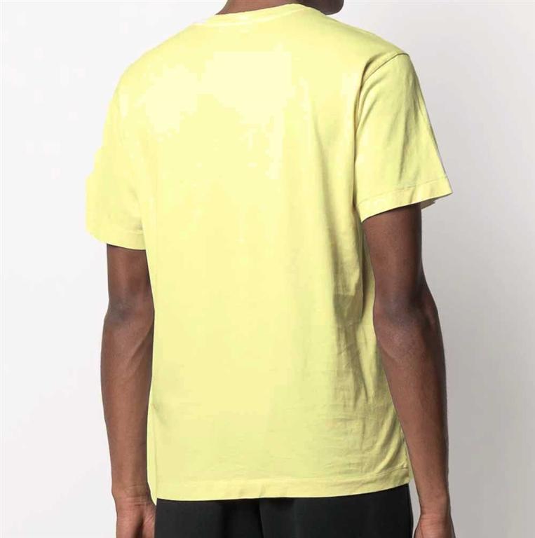 Stone Island - T-Shirt - tshirt jersey giallo limone 1