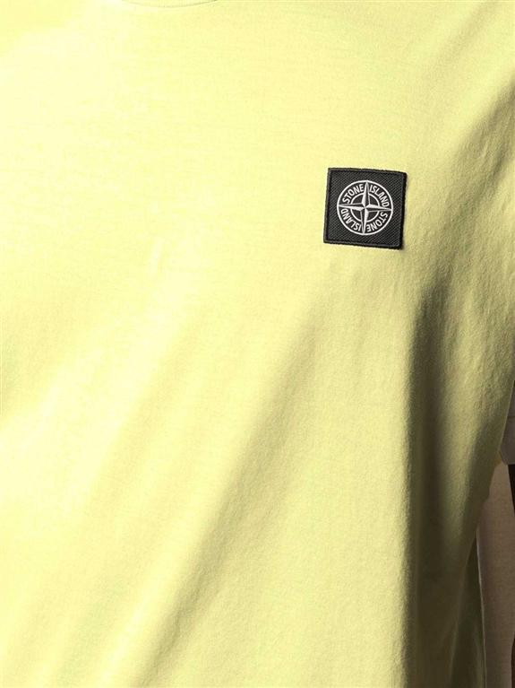 Stone Island - T-Shirt - tshirt jersey giallo limone 2