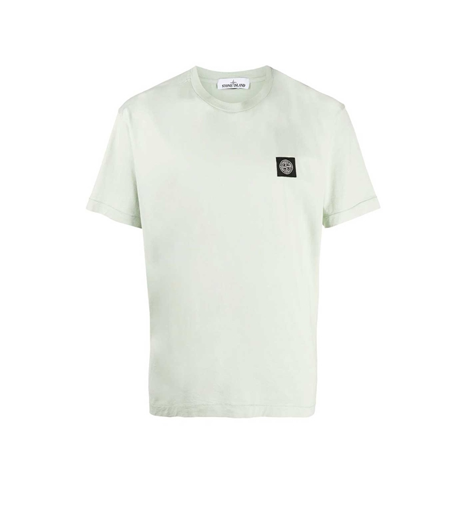Stone Island - T-Shirt - TSHIRT JERSEY VERDE CHIARO