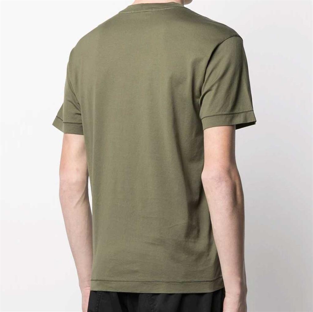 Stone Island - T-Shirt - tshirt jersey verde oliva 1