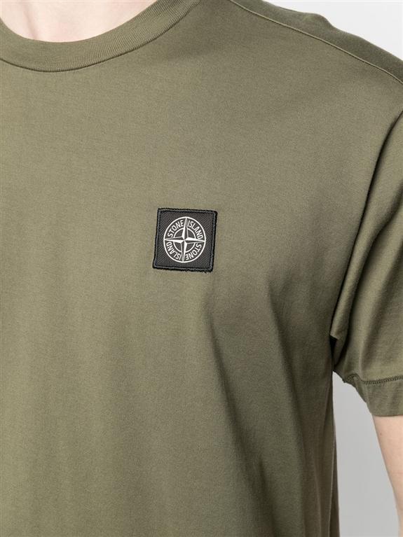Stone Island - T-Shirt - tshirt jersey verde oliva 2