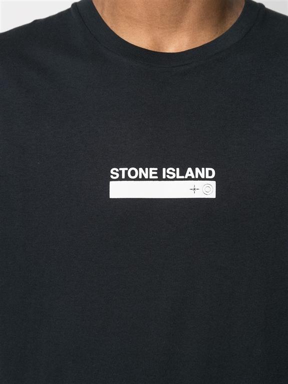 Stone Island - T-Shirt - tshirt small logo one blu 2
