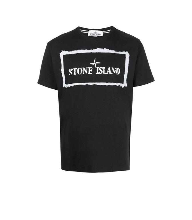 Stone Island - T-Shirt - TSHIRT STENCIL ONE NERA