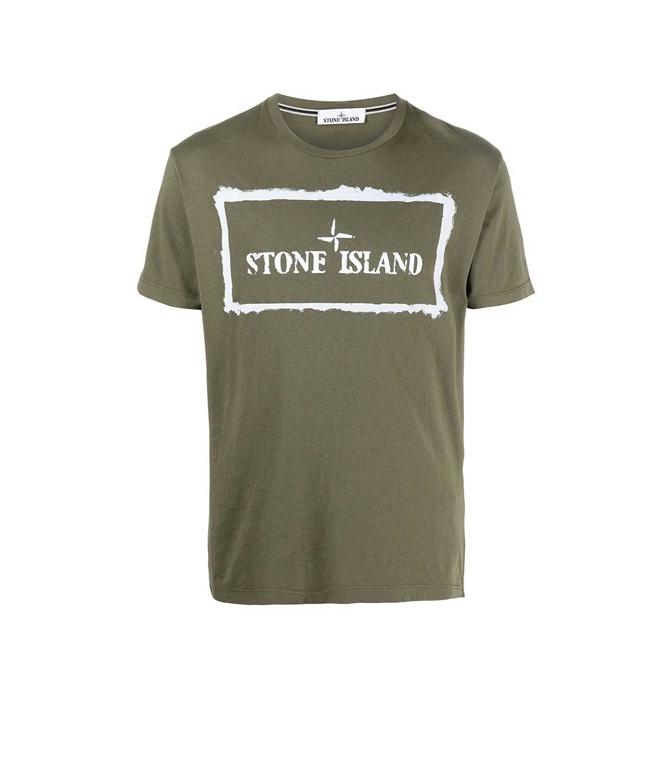 Stone Island - T-Shirt - TSHIRT STENCIL ONE VERDE OLIVA