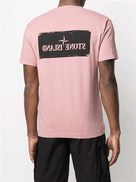 Stone Island - T-Shirt - tshirt stencil one rosa quarzo 1