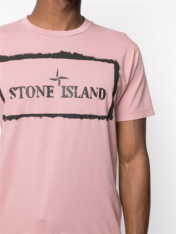 Stone Island - T-Shirt - tshirt stencil one rosa quarzo 2